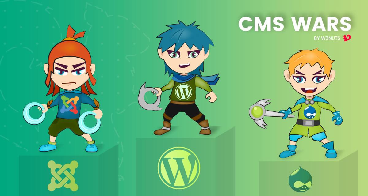CMS Wars –  The perfect Content Management System – does it exist?  WordPress Vs Drupal Vs Drupal
